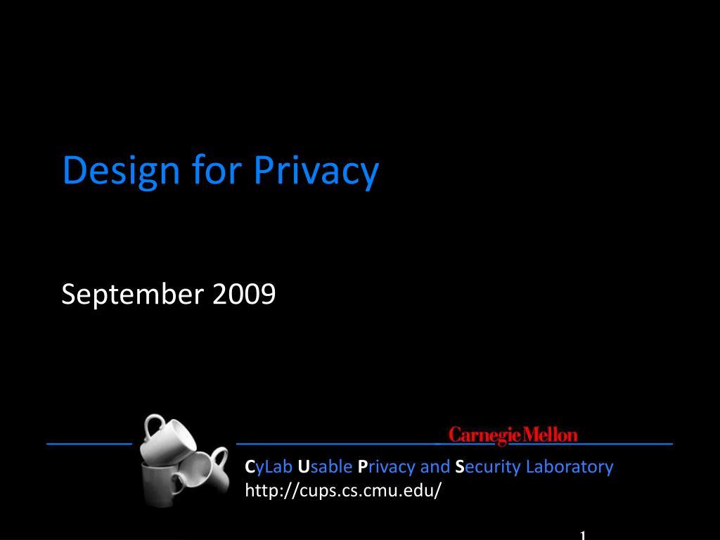design for privacy l.