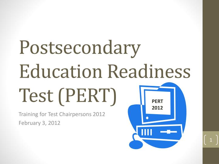 postsecondary education readiness test pert n.