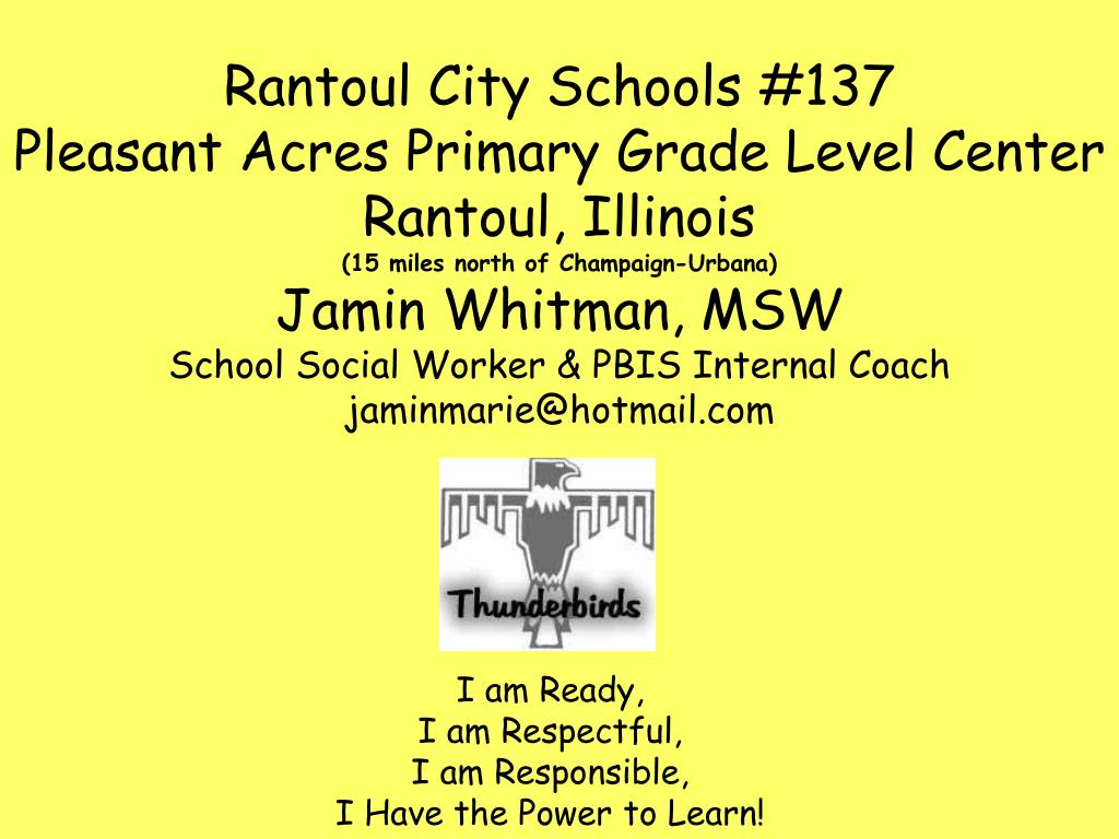 i am ready i am respectful i am responsible i have the power to learn l.