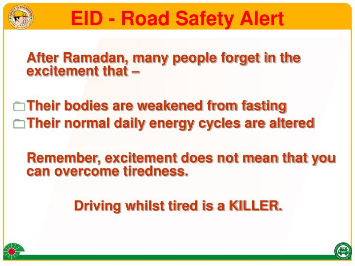 Eid road safety alert3