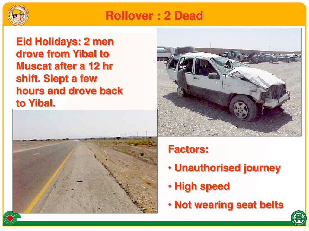 Rollover : 2 Dead