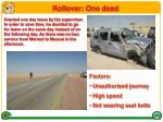 rollover one dead