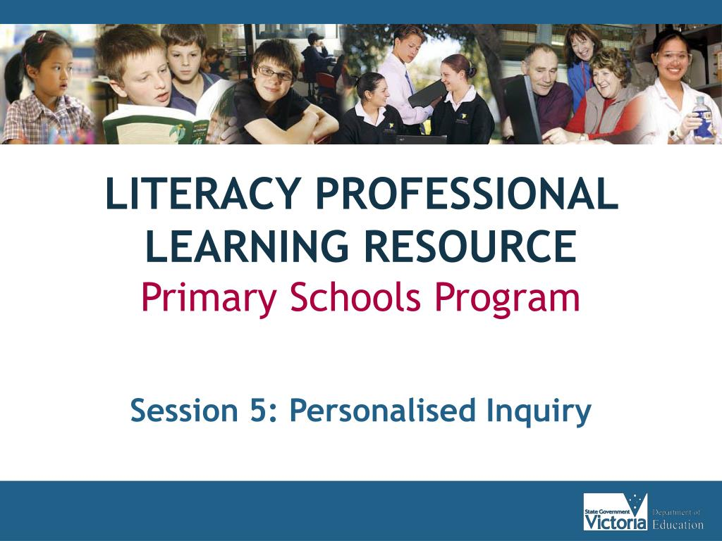 literacy professional learning resource primary schools program l.