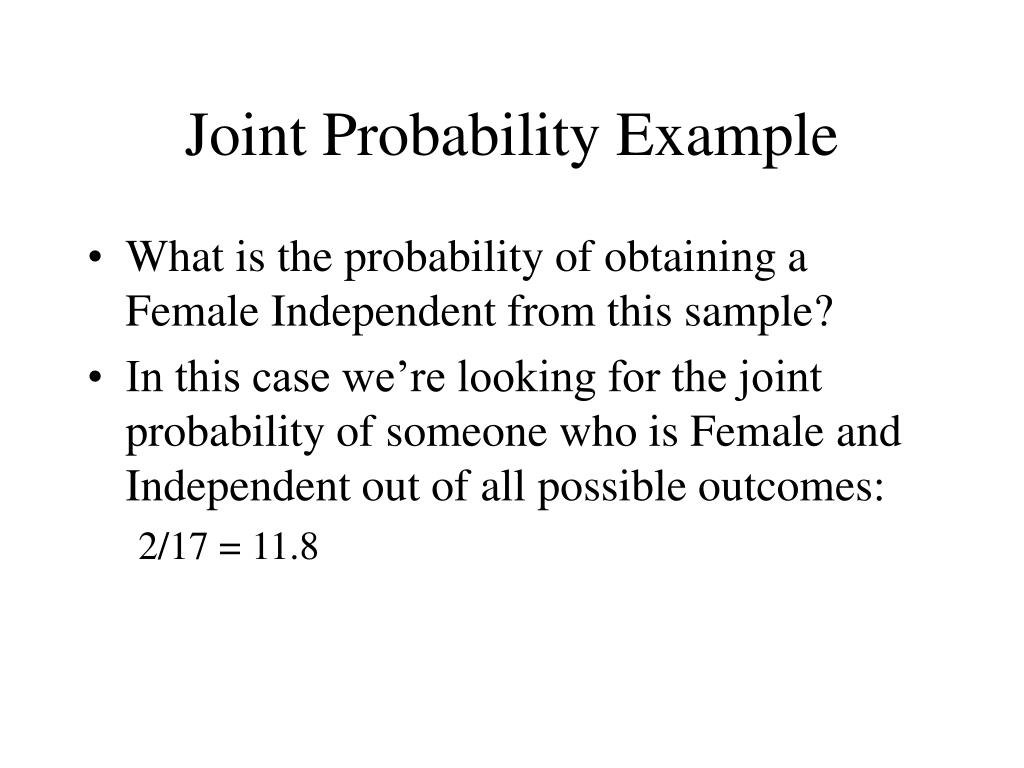 Joint Probability Example