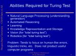 abilities required for turing test