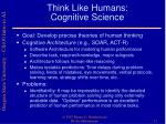 think like humans cognitive science