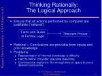 thinking rationally the logical approach