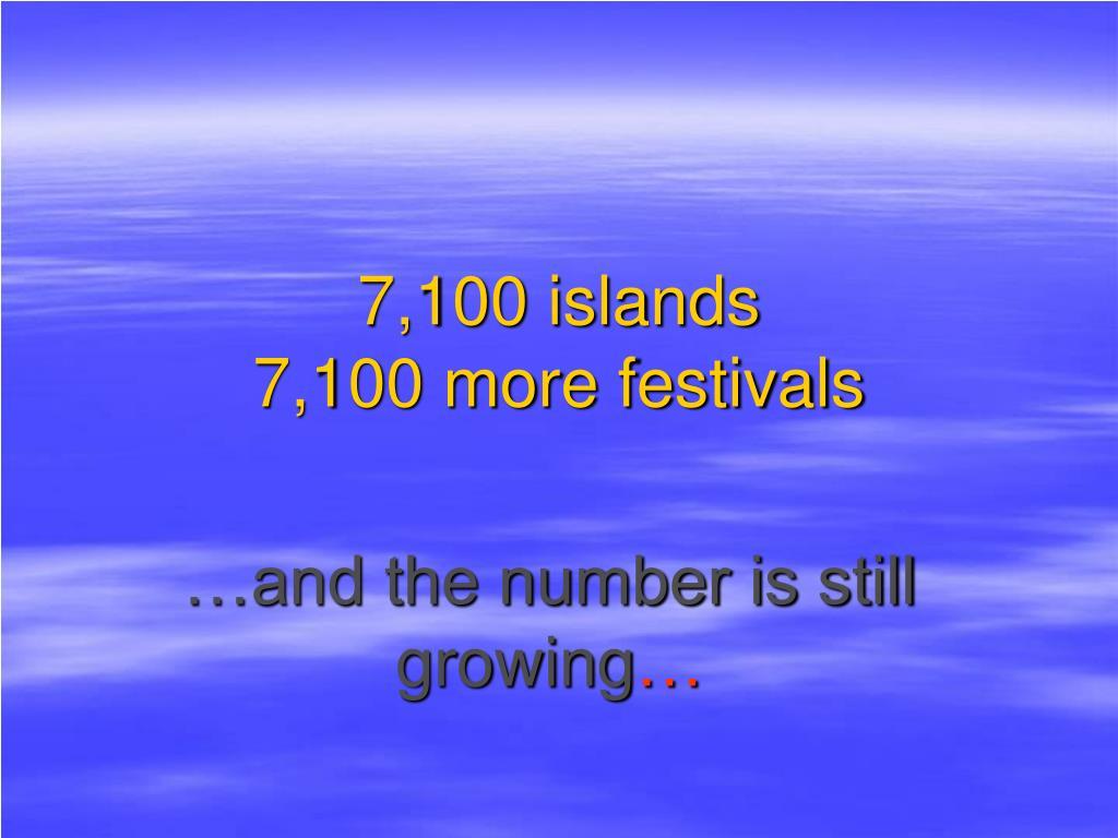 7,100 islands