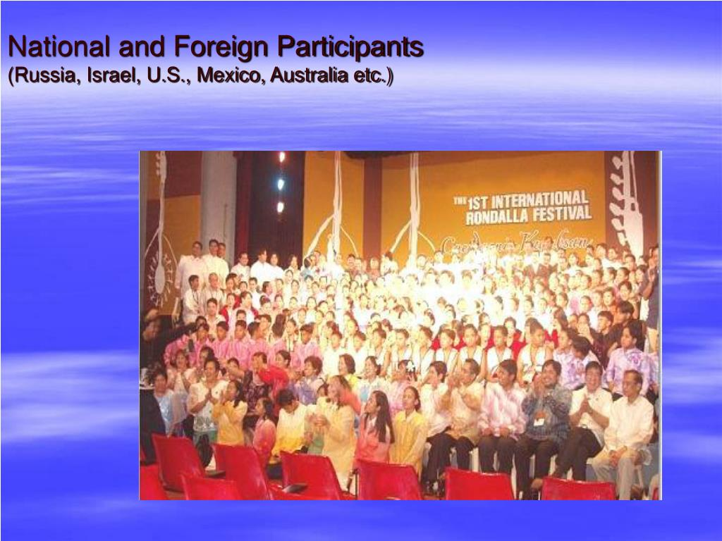 National and Foreign Participants