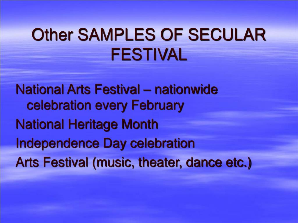 Other SAMPLES OF SECULAR