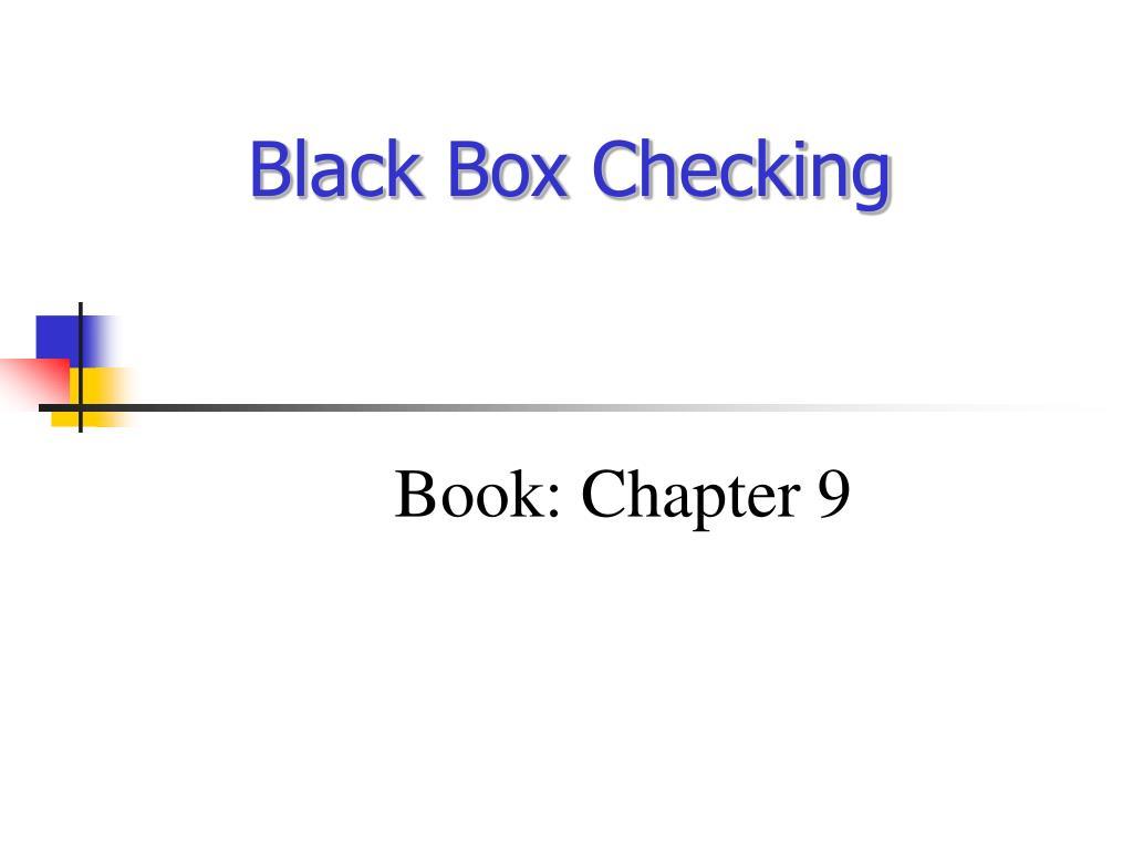 black box checking l.