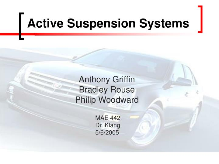 active suspension systems n.