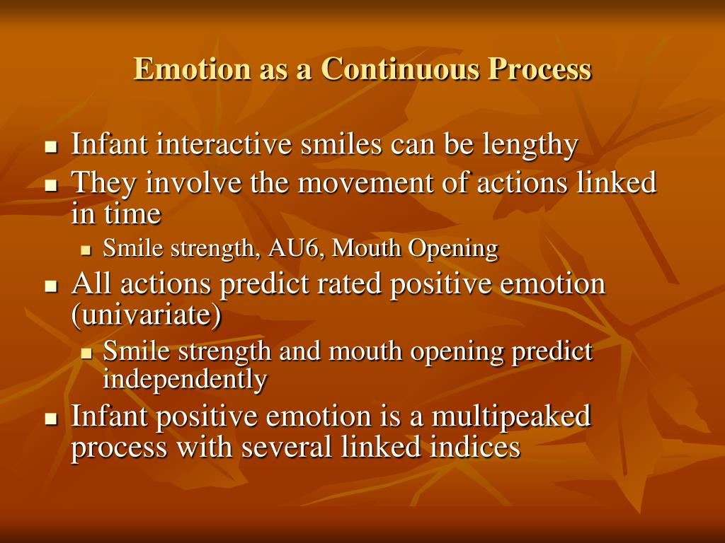 Emotion as a Continuous Process