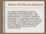 district 202 mission statement