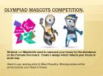 olympiad mascots competition