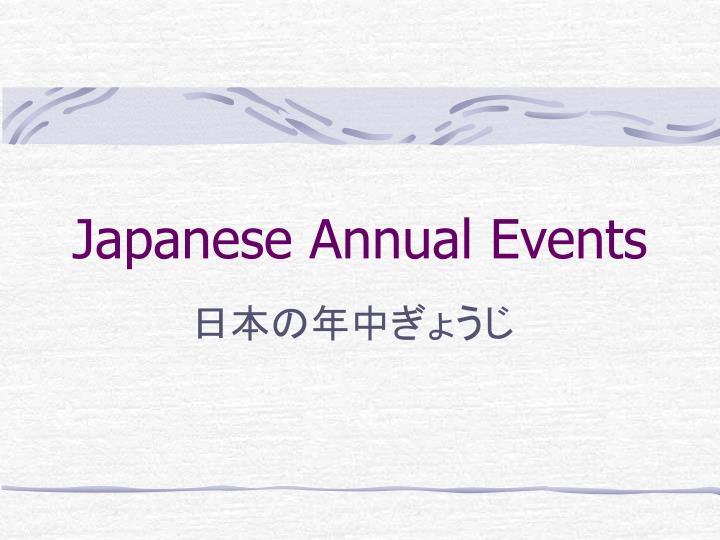 japanese annual events n.