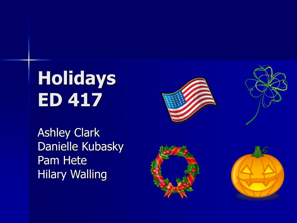 holidays ed 417 l.