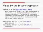 value by the income approach