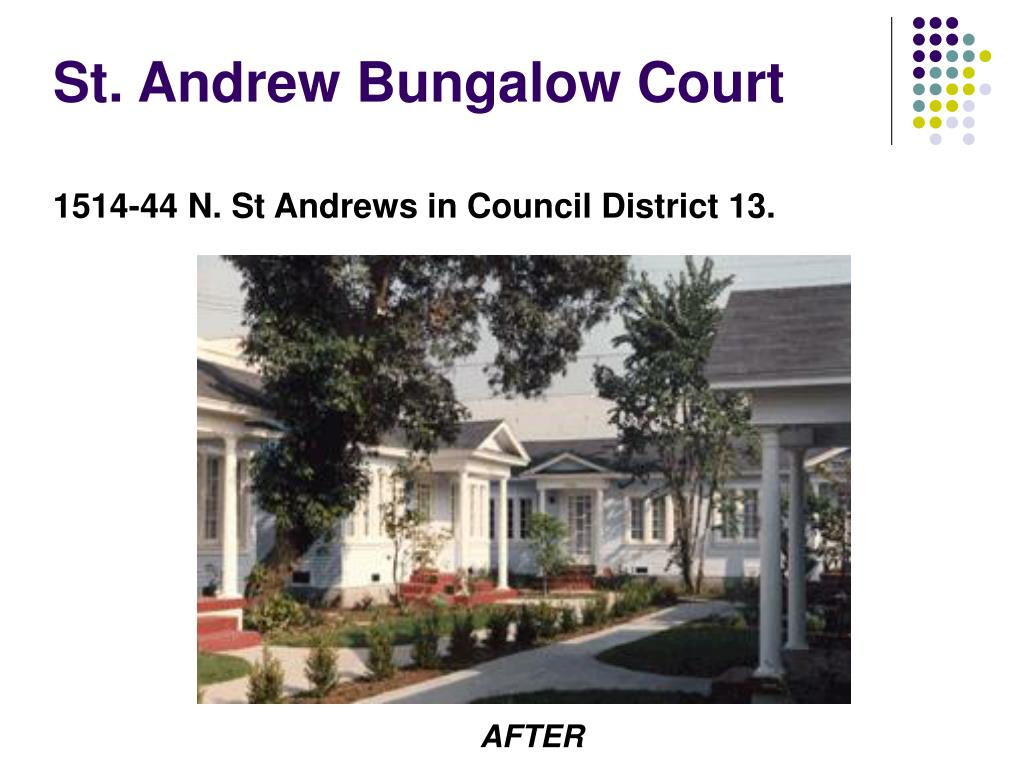 St. Andrew Bungalow Court