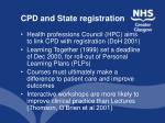 cpd and state registration