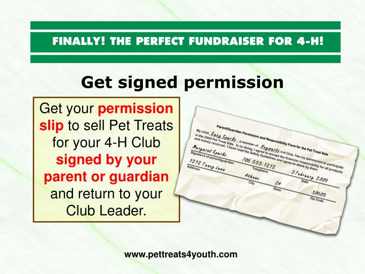 Get signed permission
