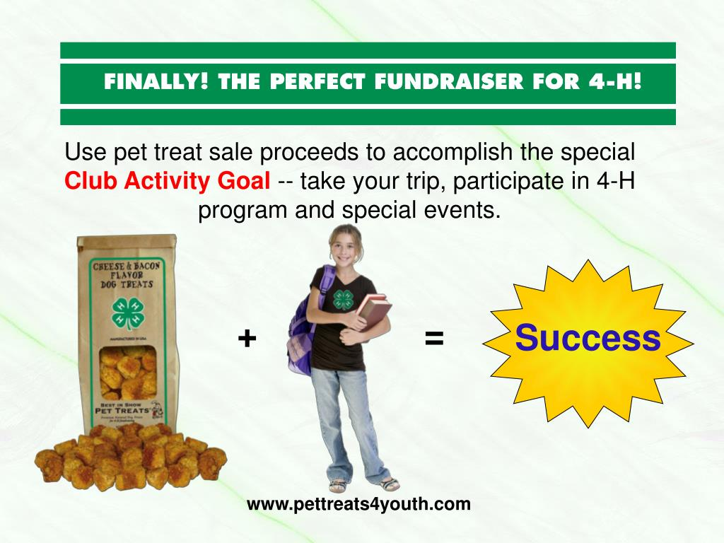 Use pet treat sale proceeds to accomplish the special
