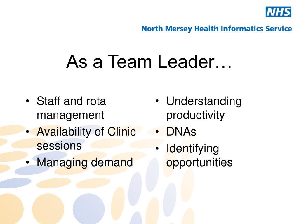 Staff and rota management