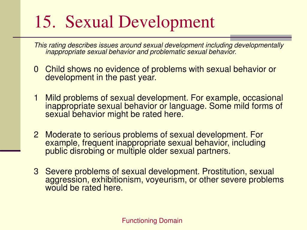 15.  Sexual Development