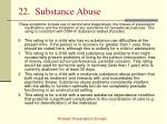 22 substance abuse