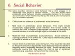 6 social behavior