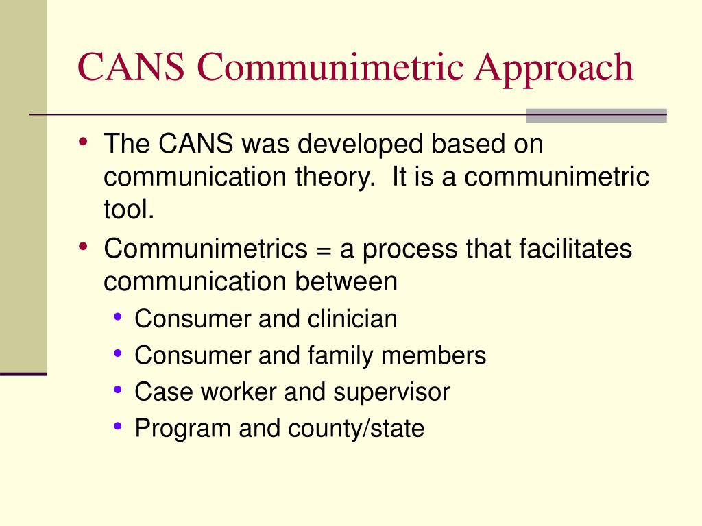 CANS Communimetric Approach
