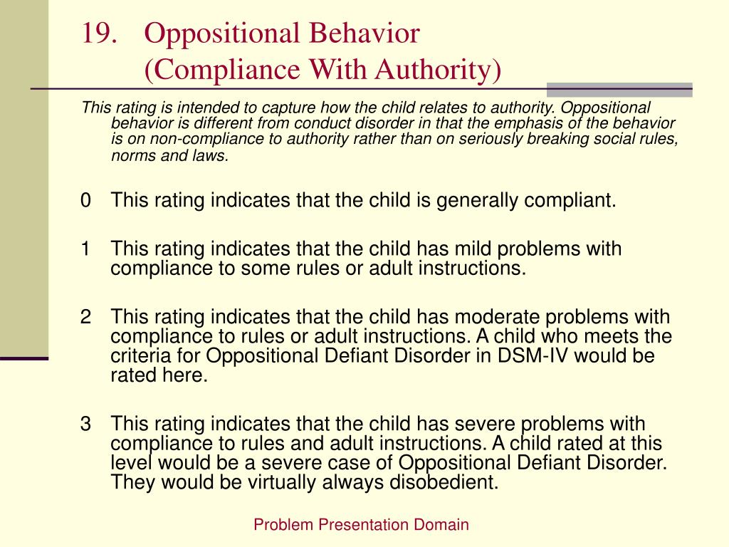 Oppositional Behavior