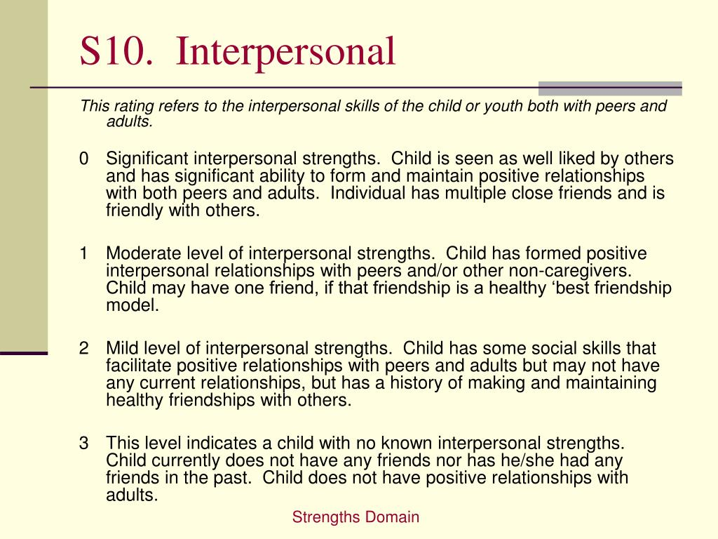 S10.  Interpersonal
