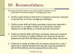 s9 resourcefulness