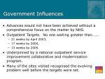 government influences