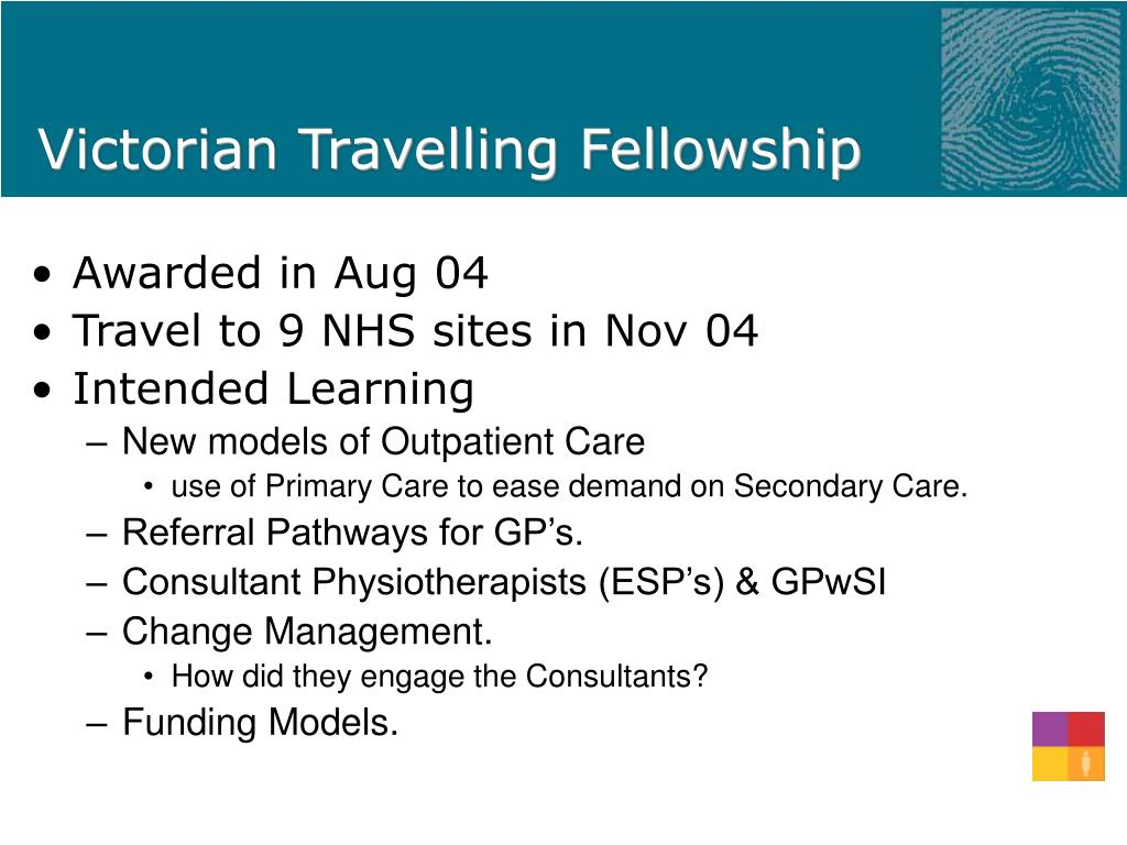 Victorian Travelling Fellowship
