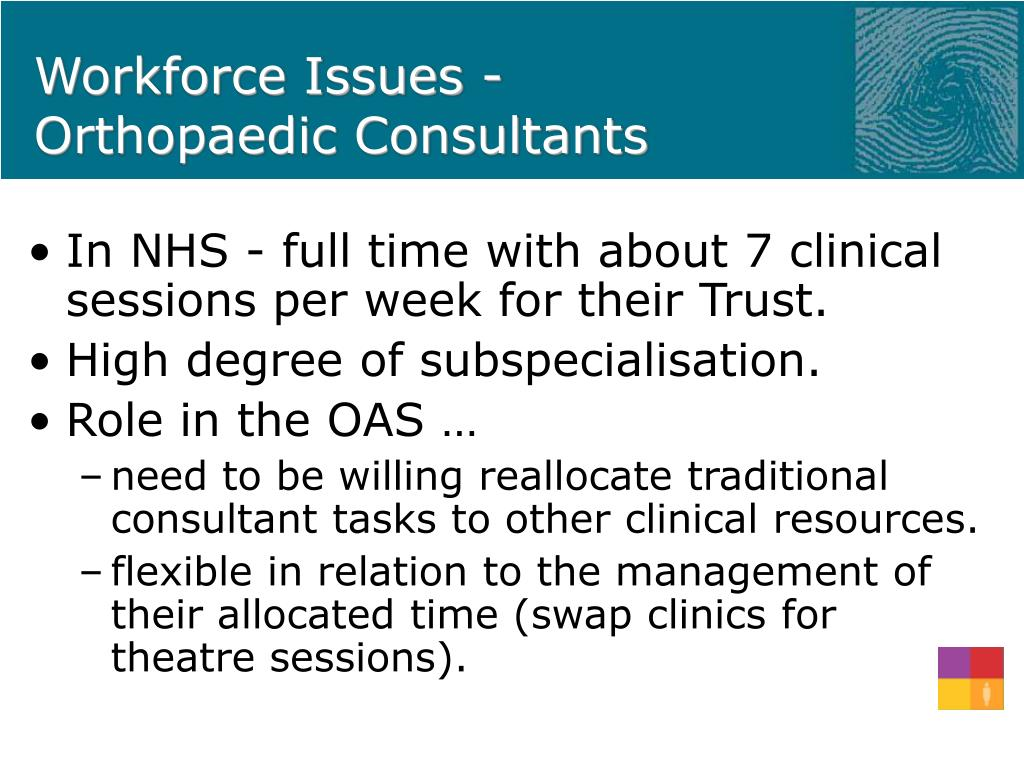 Workforce Issues - Orthopaedic Consultants