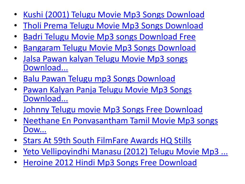 PPT - mp3 movie songs download free hindi telugu tamil PowerPoint  Presentation - ID:733055