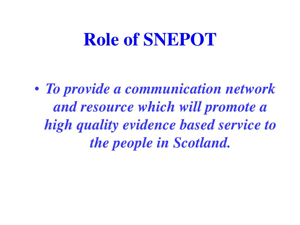 Role of SNEPOT