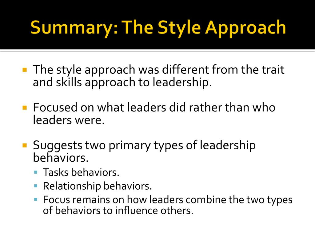 leadership the trait approach