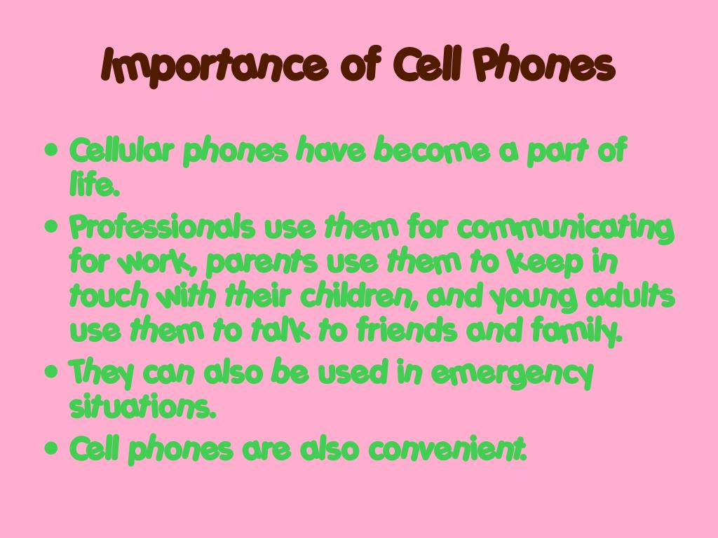 Importance of Cell Phones