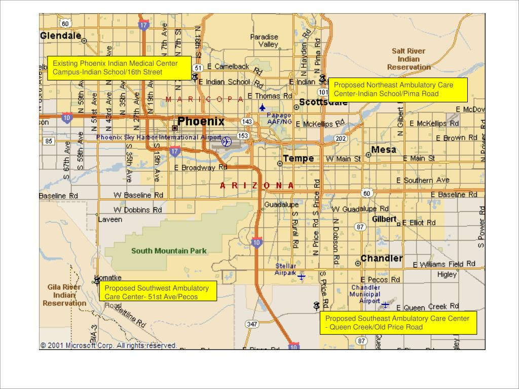 Existing Phoenix Indian Medical Center Campus-Indian School/16th Street