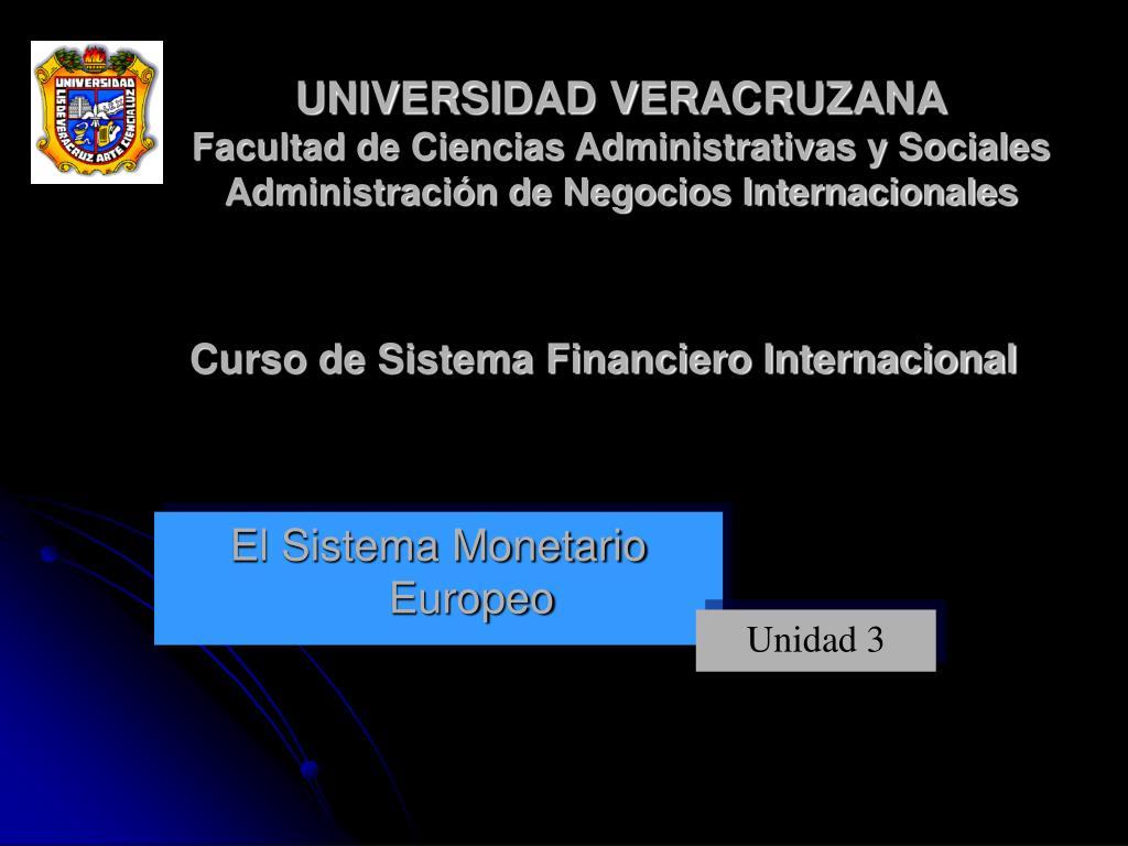 el sistema monetario europeo l.