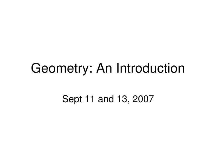 geometry an introduction n.