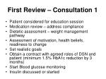 first review consultation 1