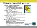 edid overview edid versions