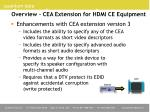 overview cea extension for hdmi ce equipment