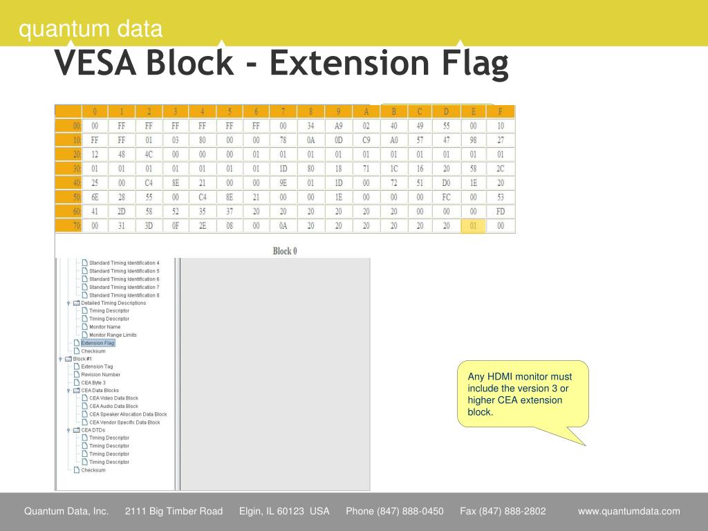 VESA Block - Extension Flag
