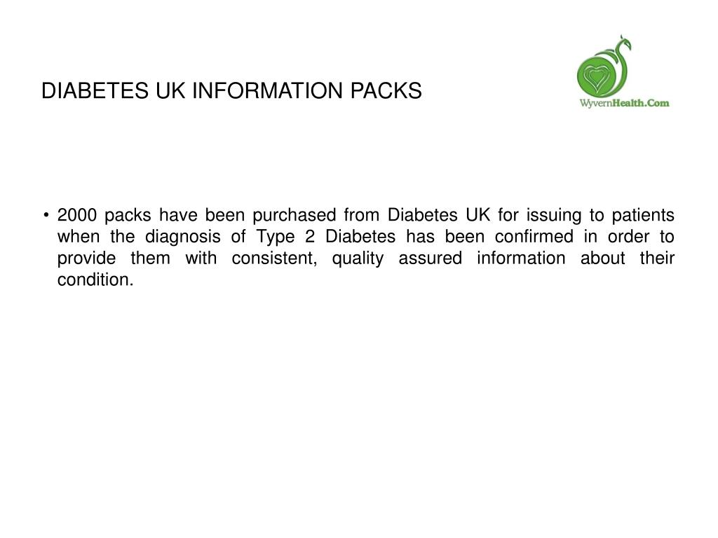 Diabetes UK information packs