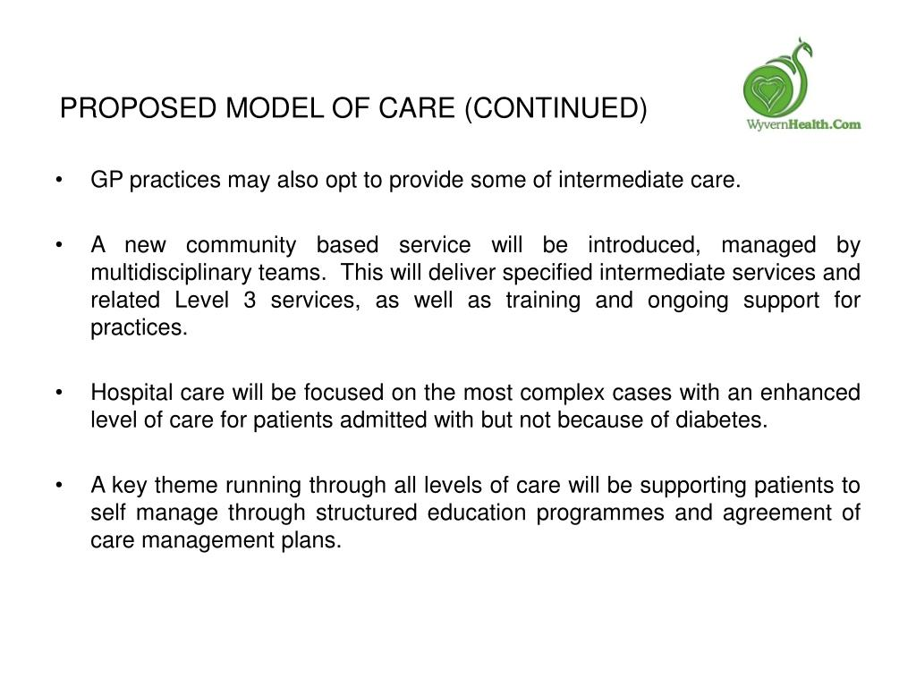 Proposed Model of Care (Continued)